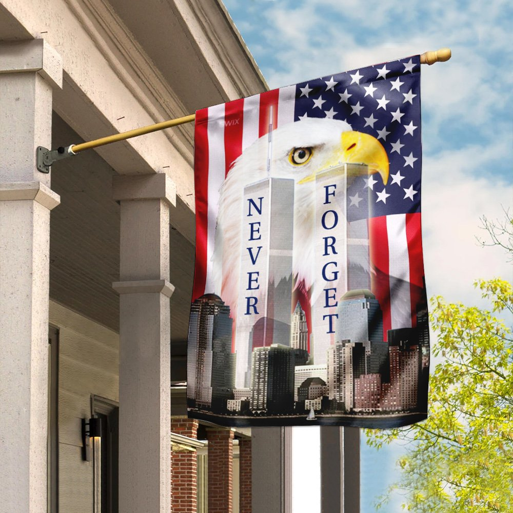 Patriot Day 911 Never Forget American Eagle Flag