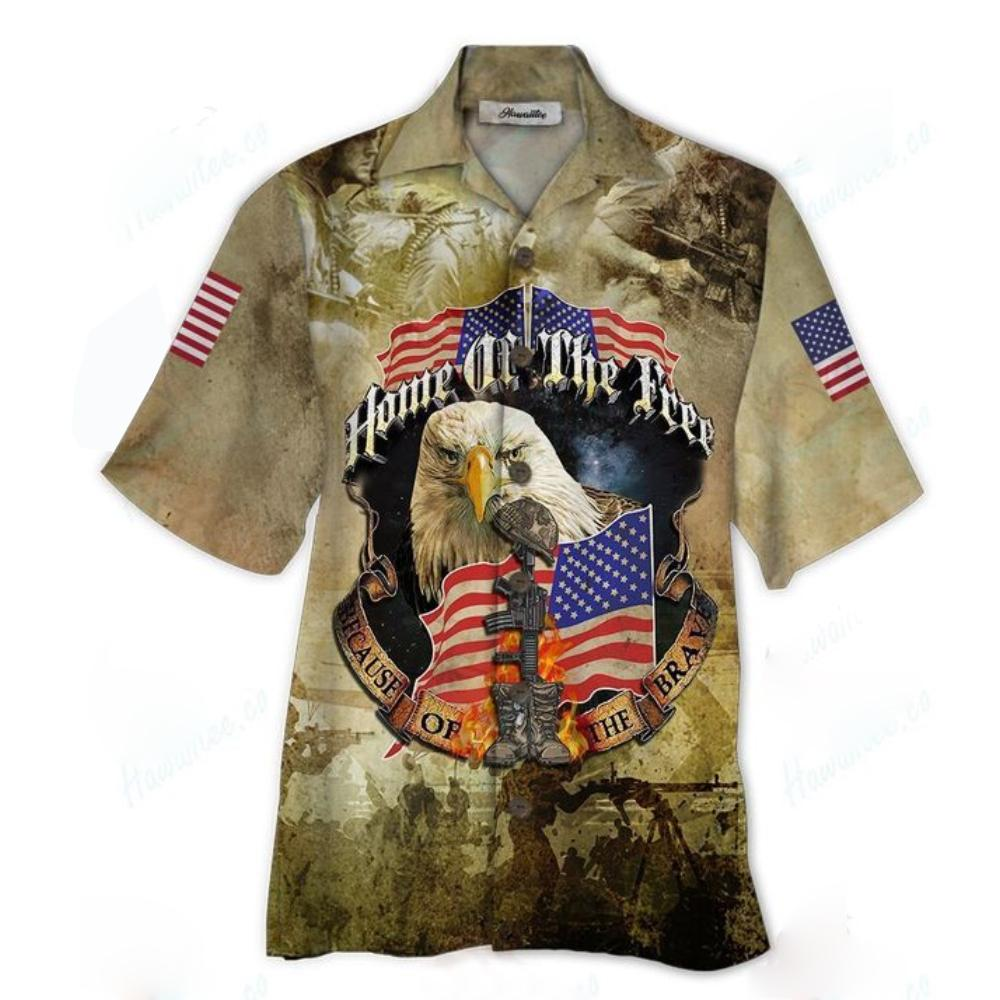 Home Of The Free 3D All Over Printed Hawaiian Shirt