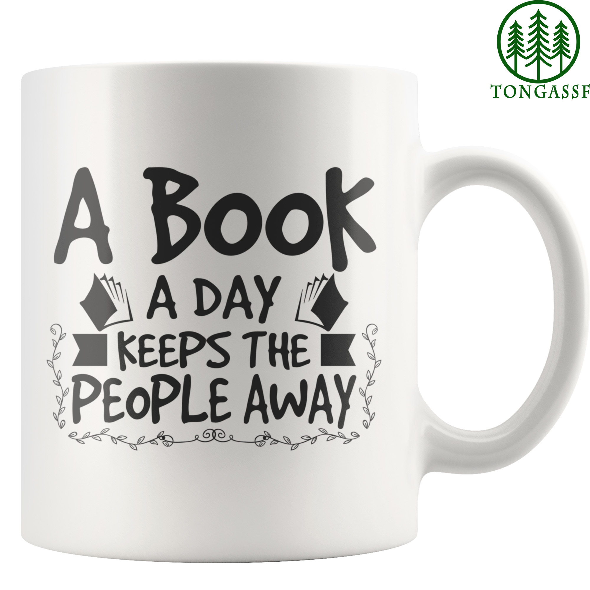 A Book A Day Book Lover White Mug
