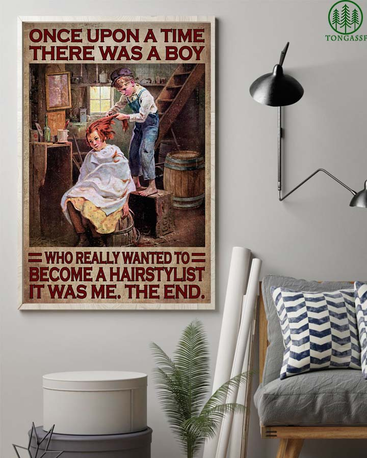 A boy who want to become a hairstylist Once upon a time poster