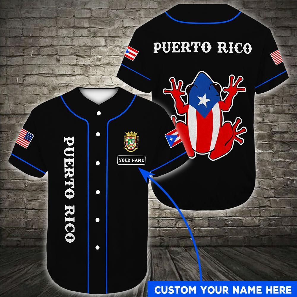 Custom Name Puerto Rico Puerto Rican American Baseball Jersey Shirt