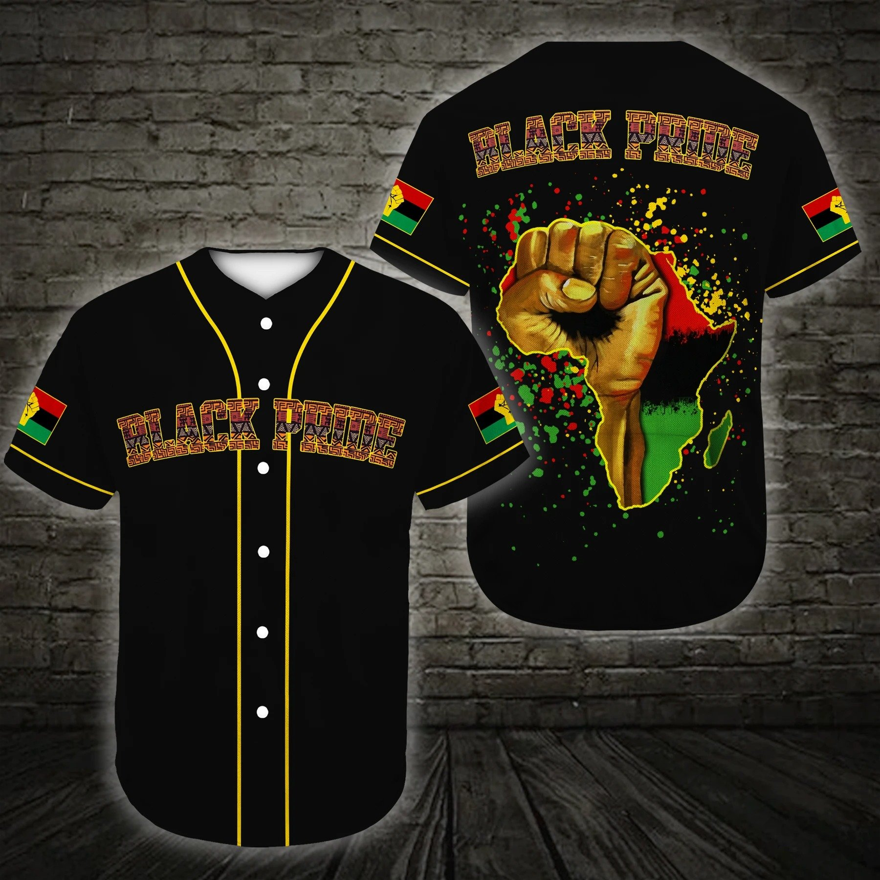 Juneteenth Black Power African American African Pride Baseball Jersey Shirt
