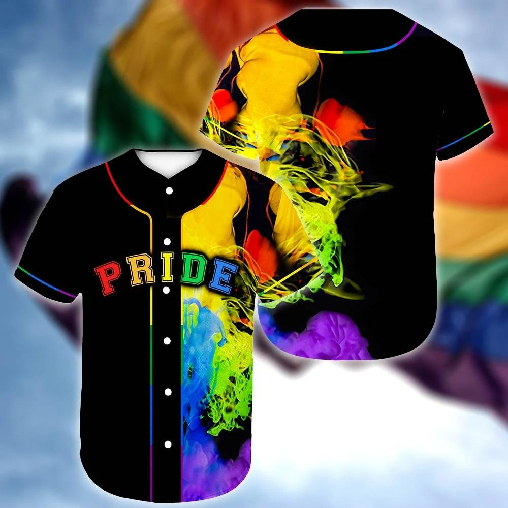 LGBT Pride Queer Colorful Baseball Jersey Shirt
