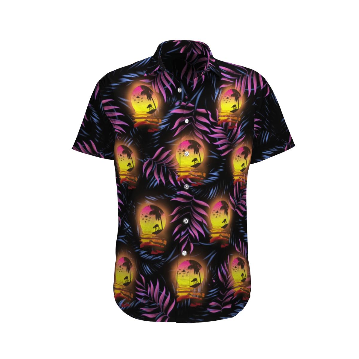 Star wars Moon Purple Floral Hawaiian Shirt