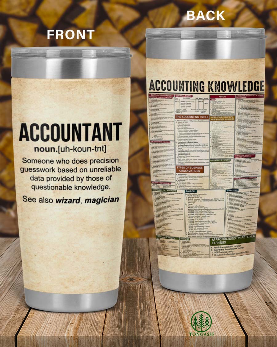 Accounting Knowledge Accountant Definition Tumbler