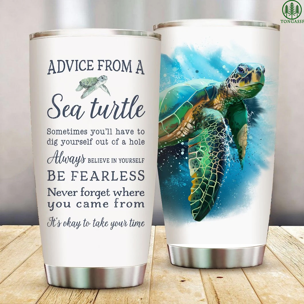 Advice from a Sea Turtle Stainless Steel Tumbler