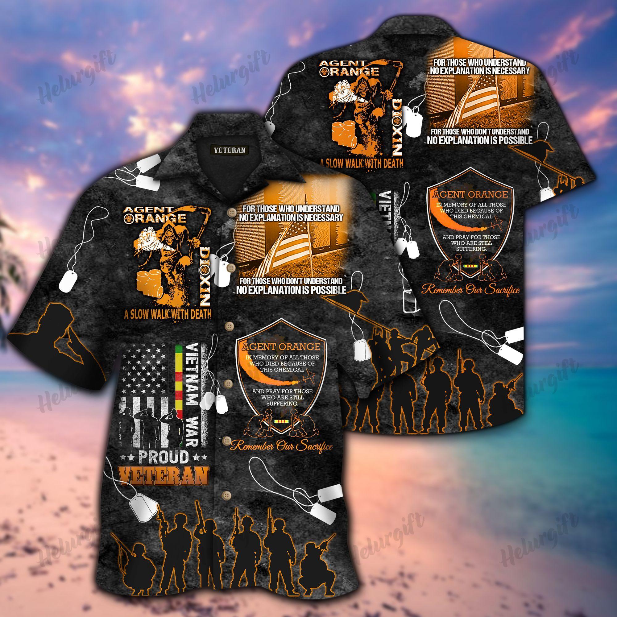 Agent Orange Vietnam Proud Veteran Memorial Hawaiian Shirt 2