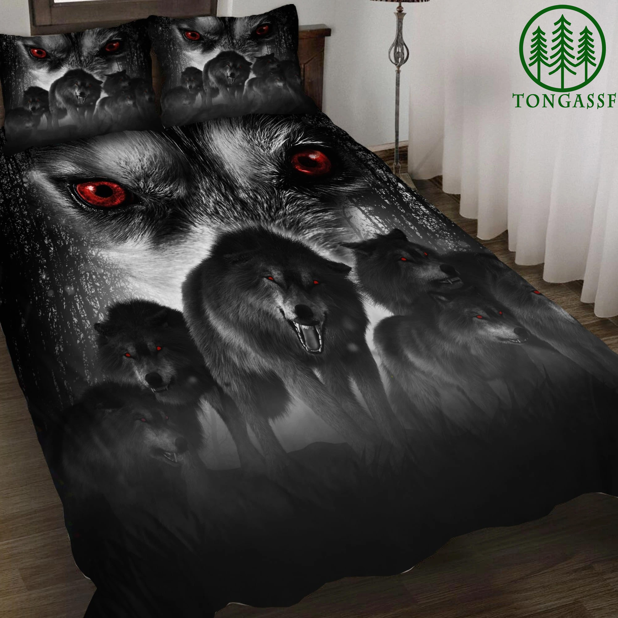 Alpha Wolf 3D All Over Printed Bedding Set