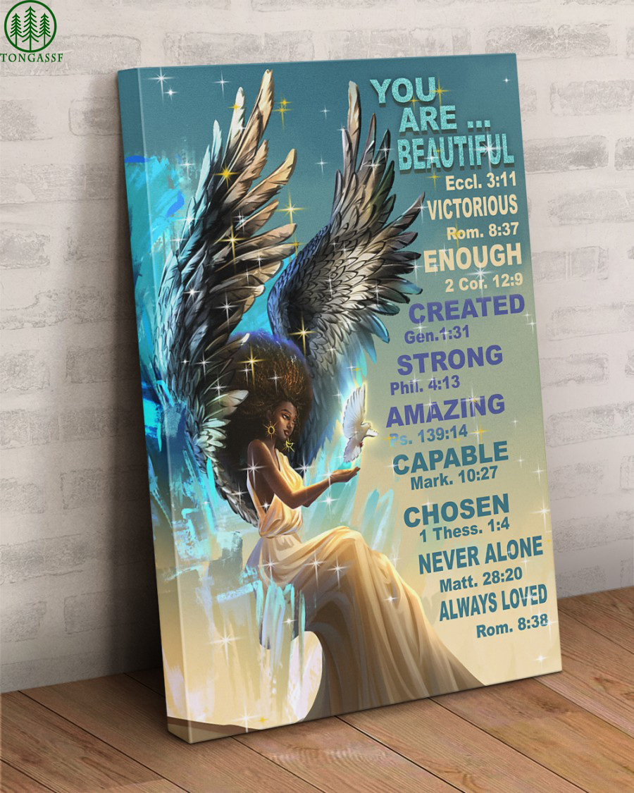 Amazing Enough You Are Beautiful Gallery Wrapped Canvas Prints