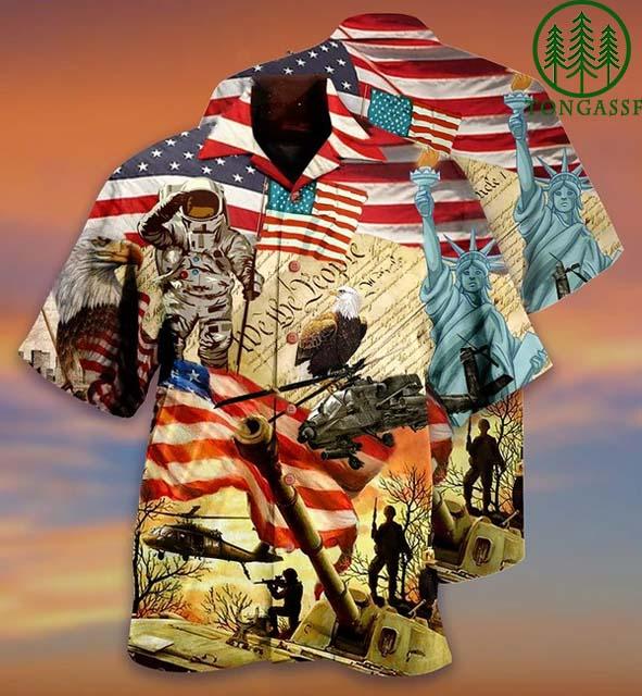 American Army and freedom Hawaiian Shirt