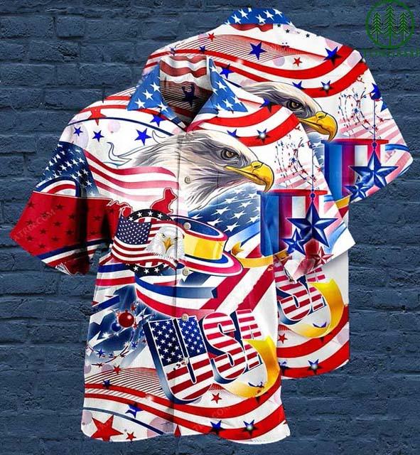 American Eagle USA Hawaiian Shirt