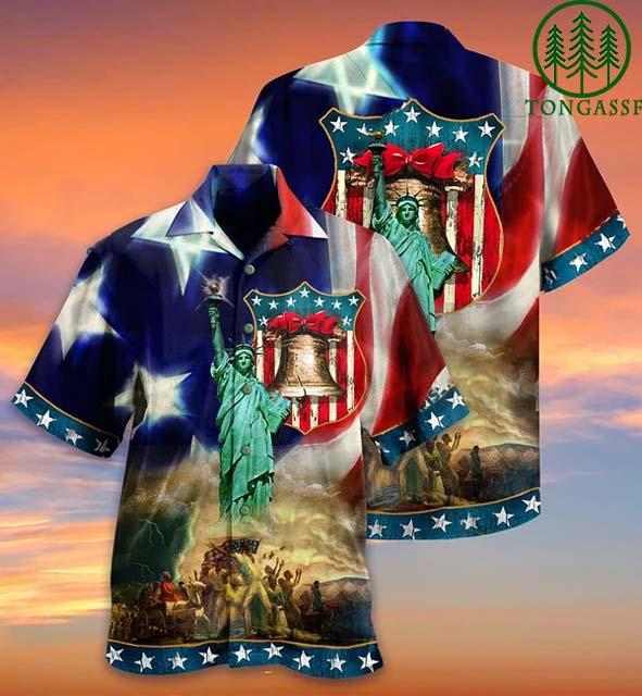 American Happy Independence Day Hawaiian shirt