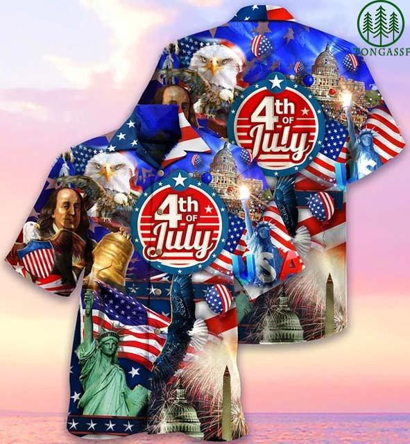 American Love 4th of July Hawaiian Shirt
