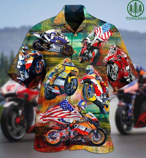 American Motorcycle Sport Racing Hawaiian Shirt