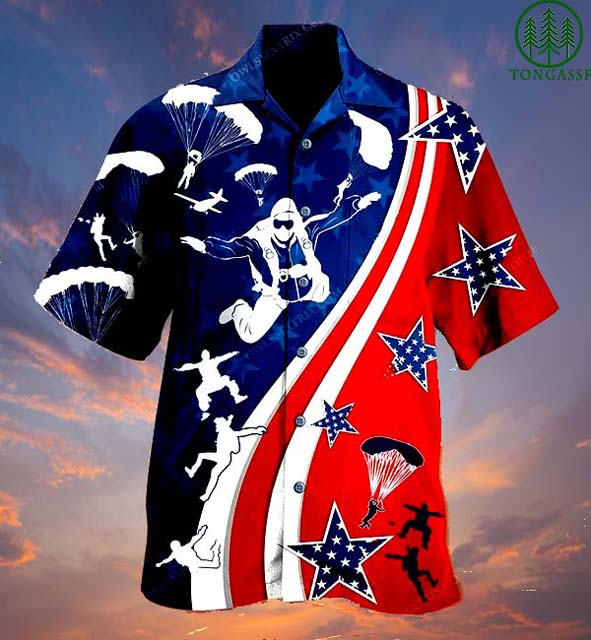 American Parachute Jump Hawaiian Shirt