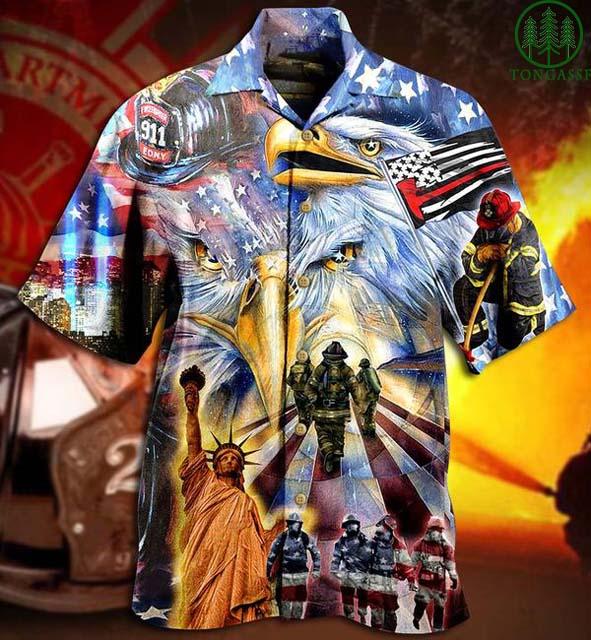 American Police 911 Proud Forever Hawaiian Shirt