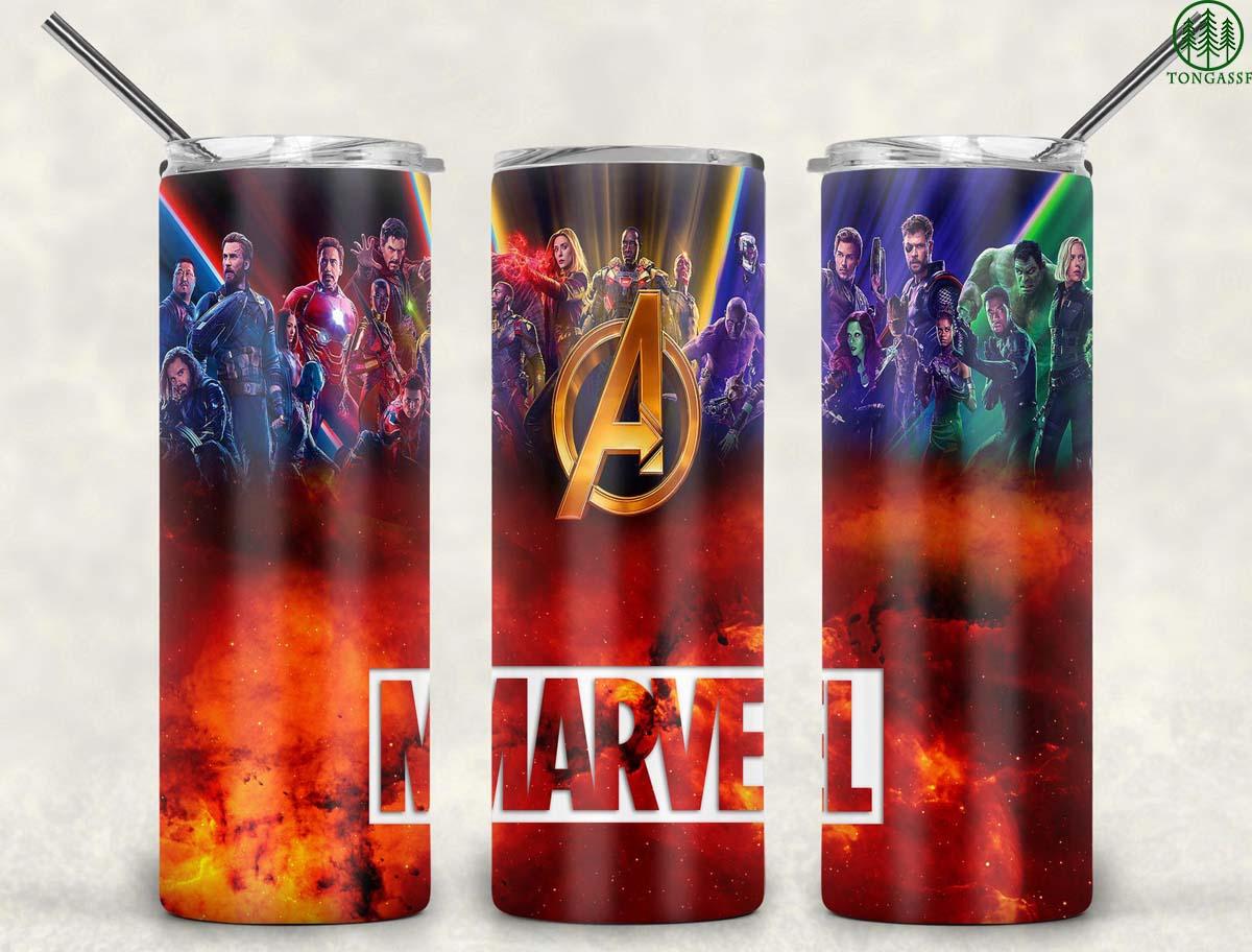 Avengers marvel characters skinny tumbler