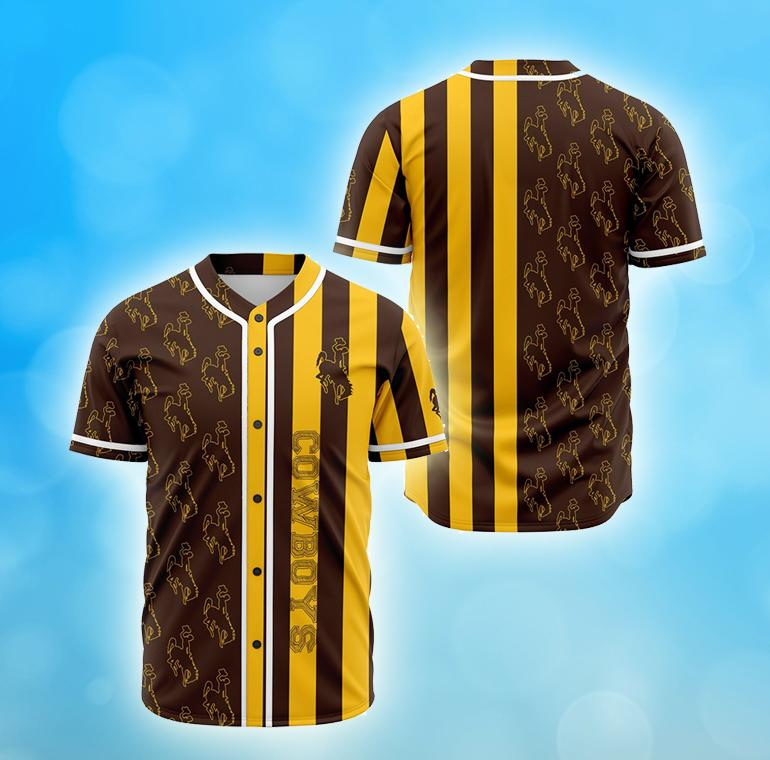 Wyoming Cowboys American football Baseball Jersey Shirt