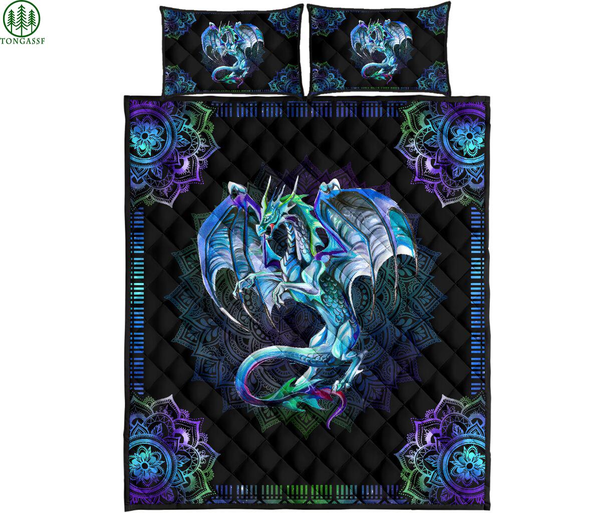 BLUE MAJESTIC DRAGON bedding set