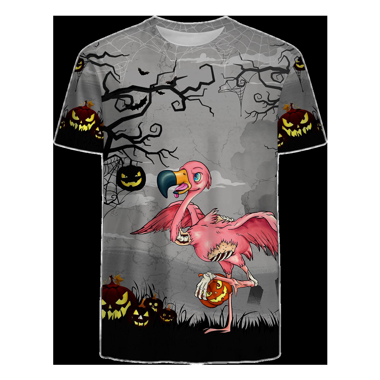 Flamingo horror night Halloween T Shirt