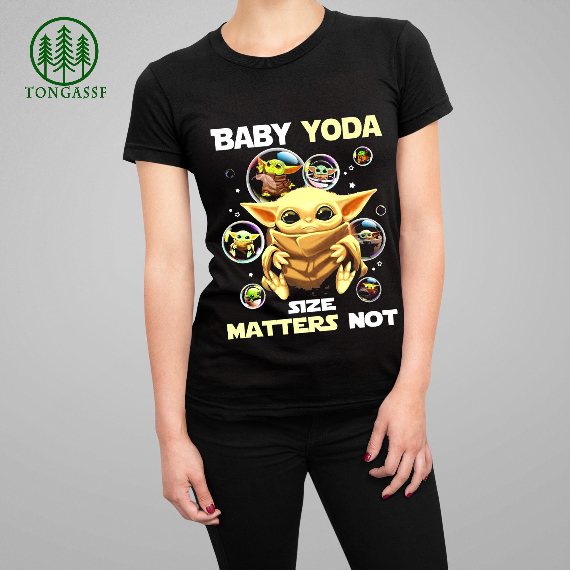 Baby Yoda balloons size matters not shirt