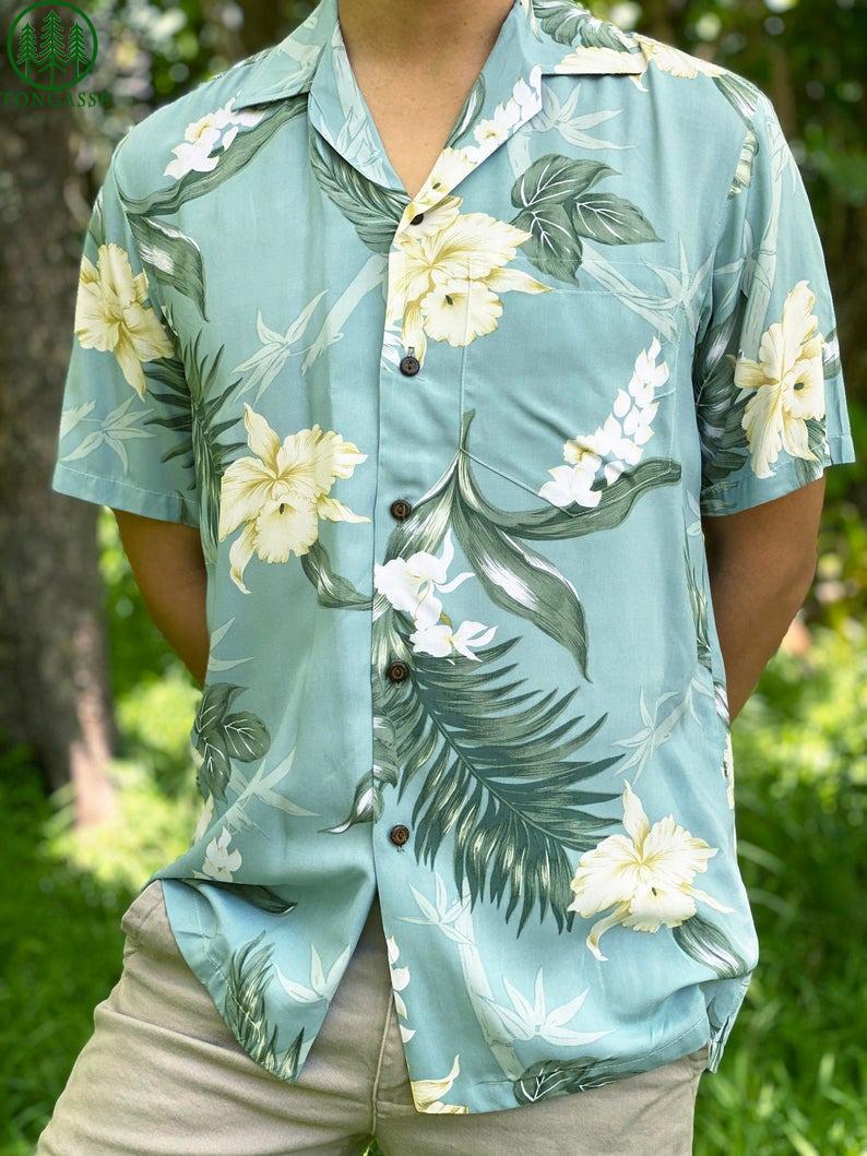 Bamboo Ginger Floral Hawaiian Aloha Shirt 3D