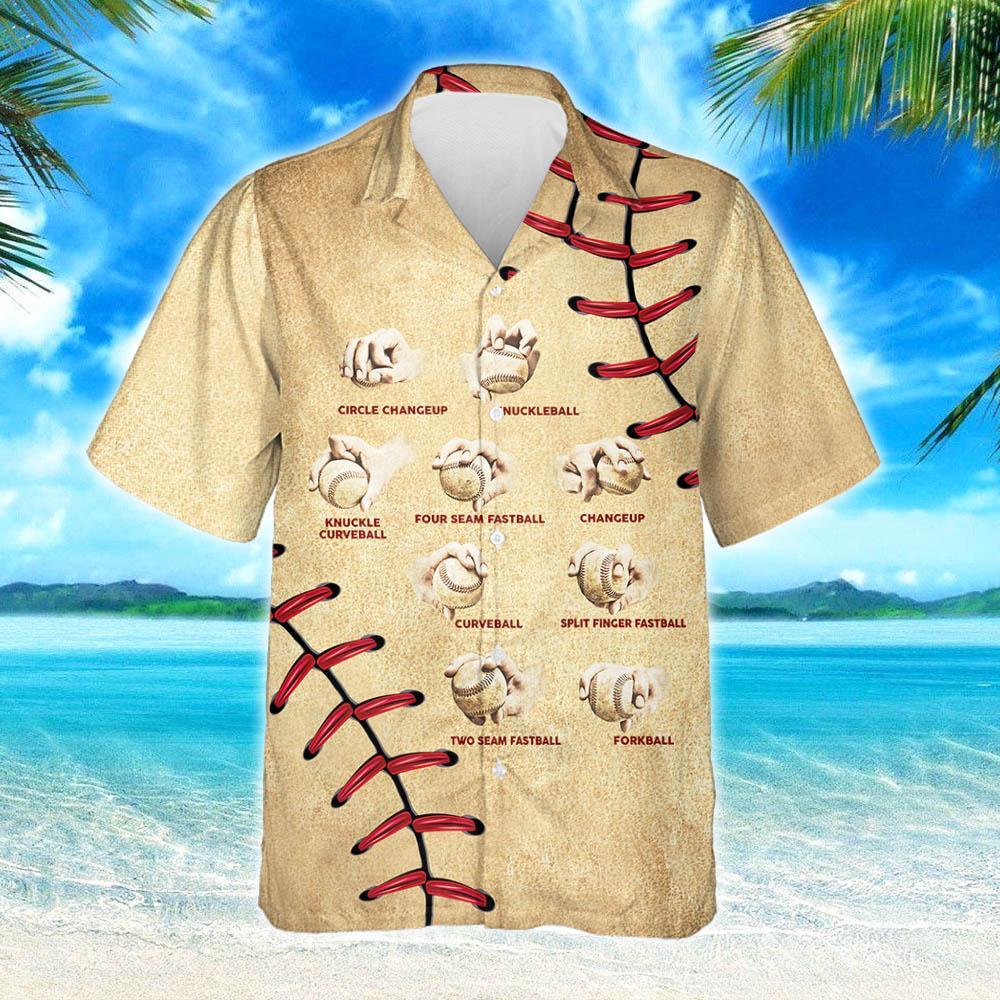 Baseball Pitching Grips Hawaiian Shirt 2