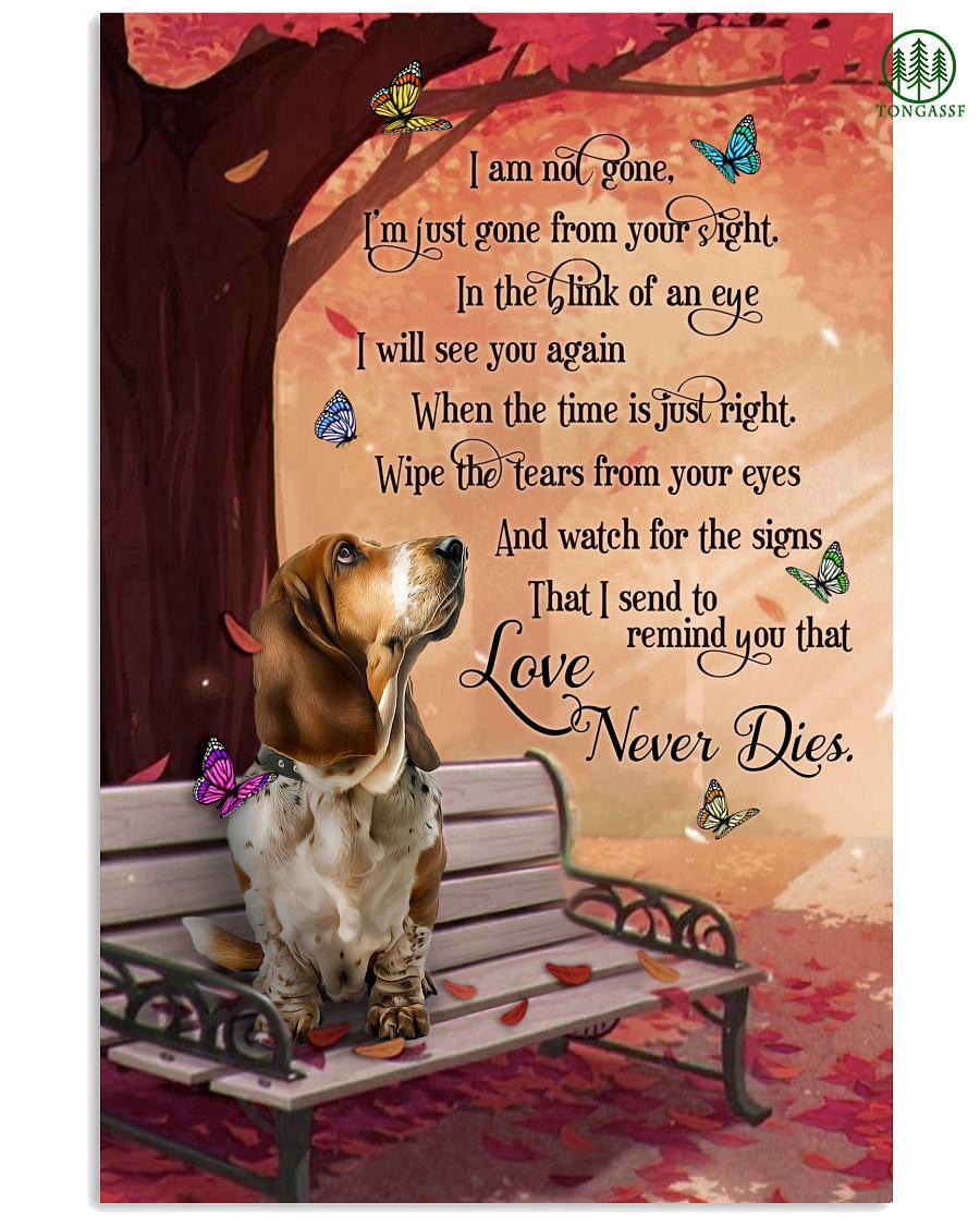 Basset Hound Love Never Dies Vertical Poster