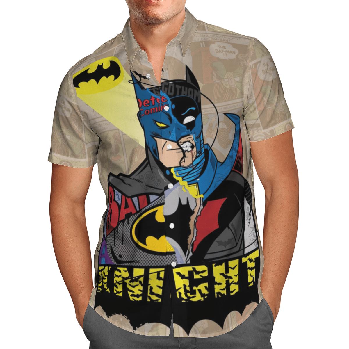 BatMan Comic Dark Knight Hawaiian Shirt Summer Shirt