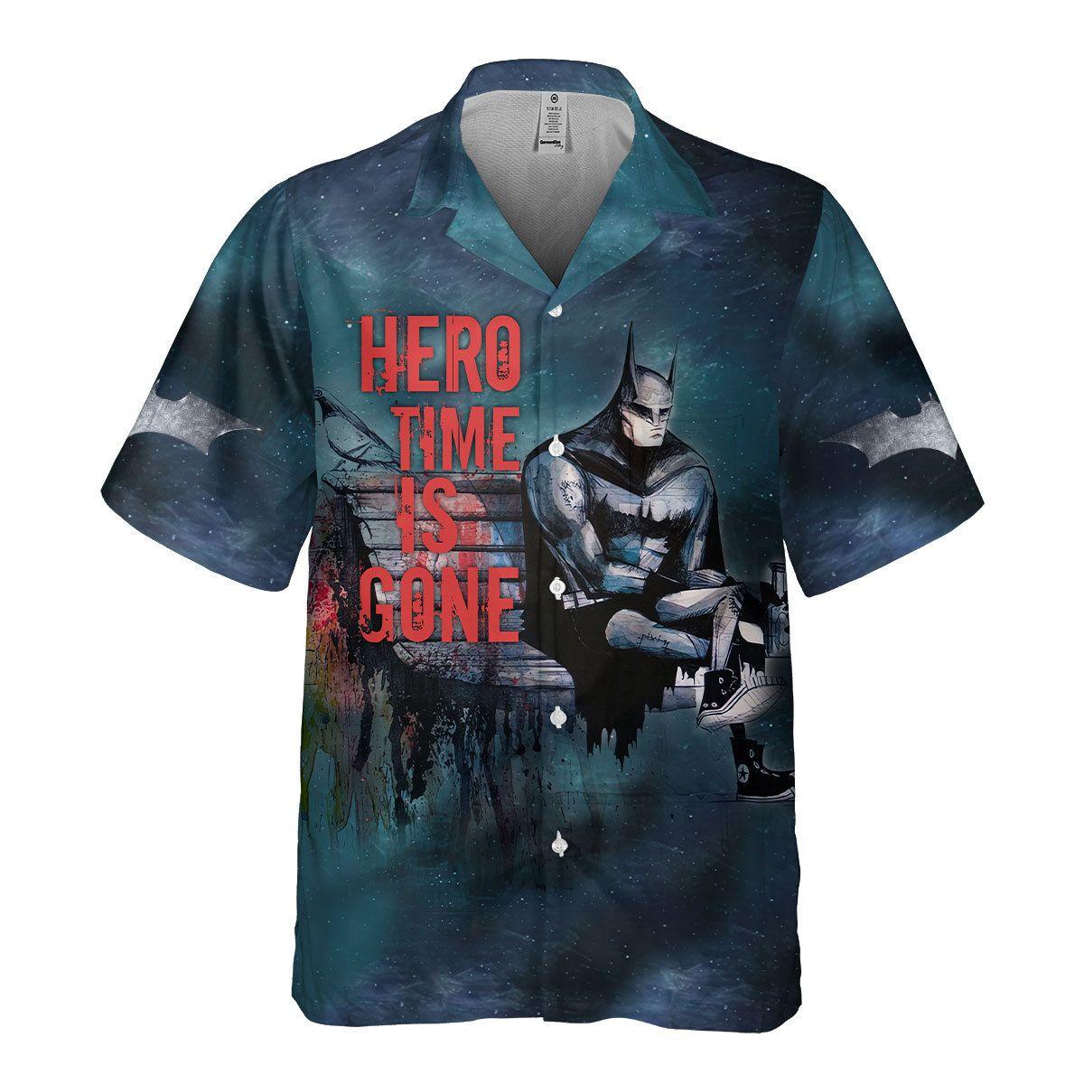 Batman Hero Time is Gone Hawaiian Shirt Button Up Shirt