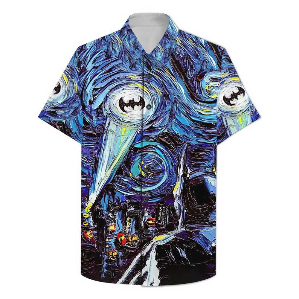 Batman Logo oil paint Hawaiian Shirt