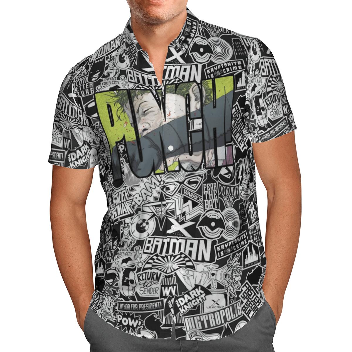 Batman Metropolis Punch Hawaiian Shirt Summer Shirt