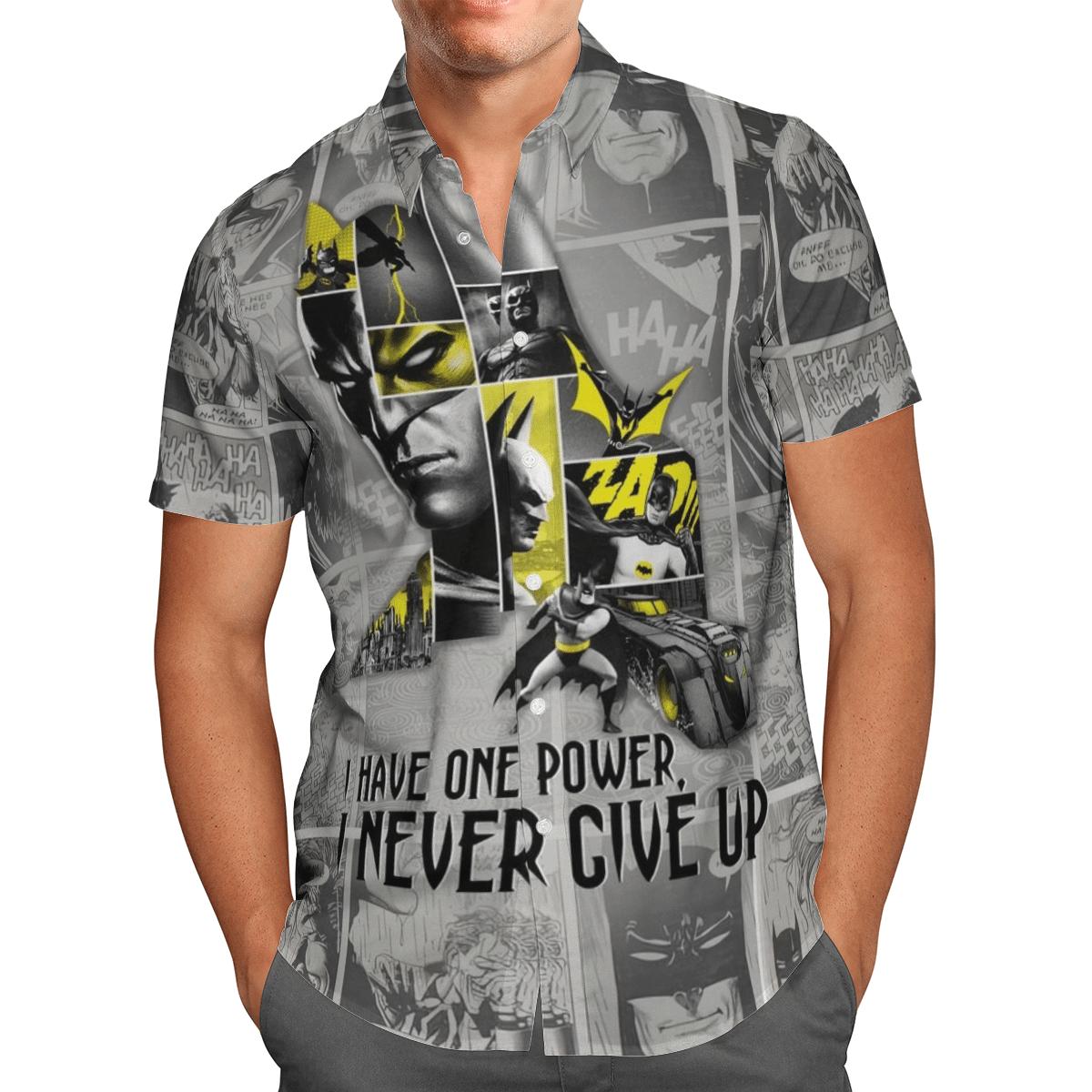 Batman Power Never give up Hawaiian Shirt