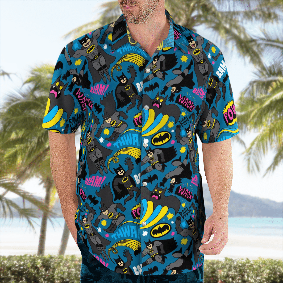 Batman in battle Hawaiian Shirt Summer Shirt