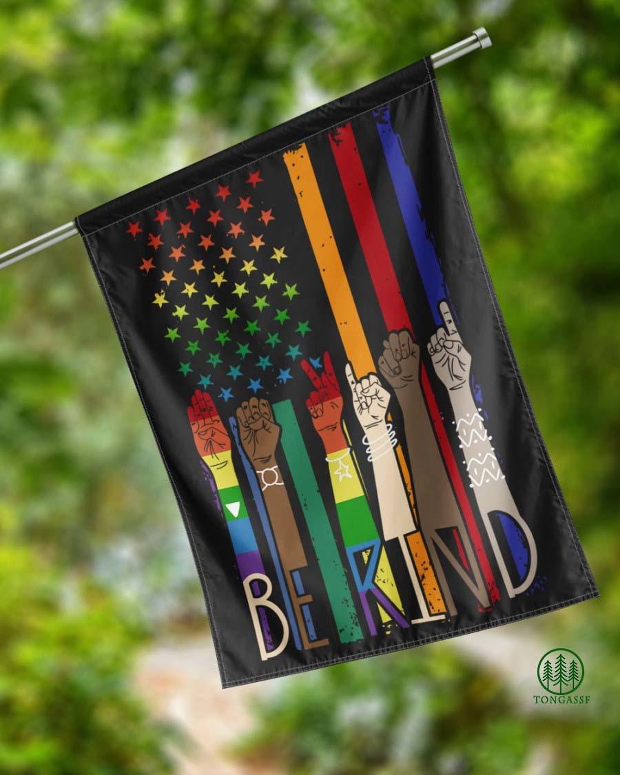 Be Kind American House Flag