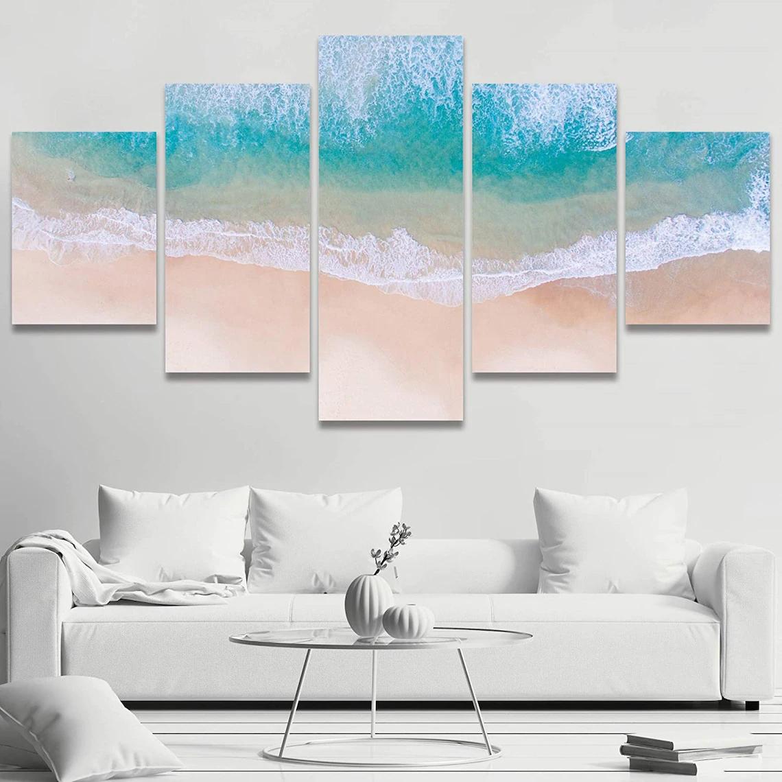 Beach Sunset Wall Art 5 Piece 2