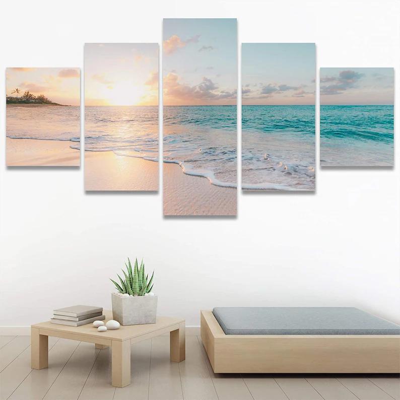 Beach Sunset Wall Art 5 Piece 3