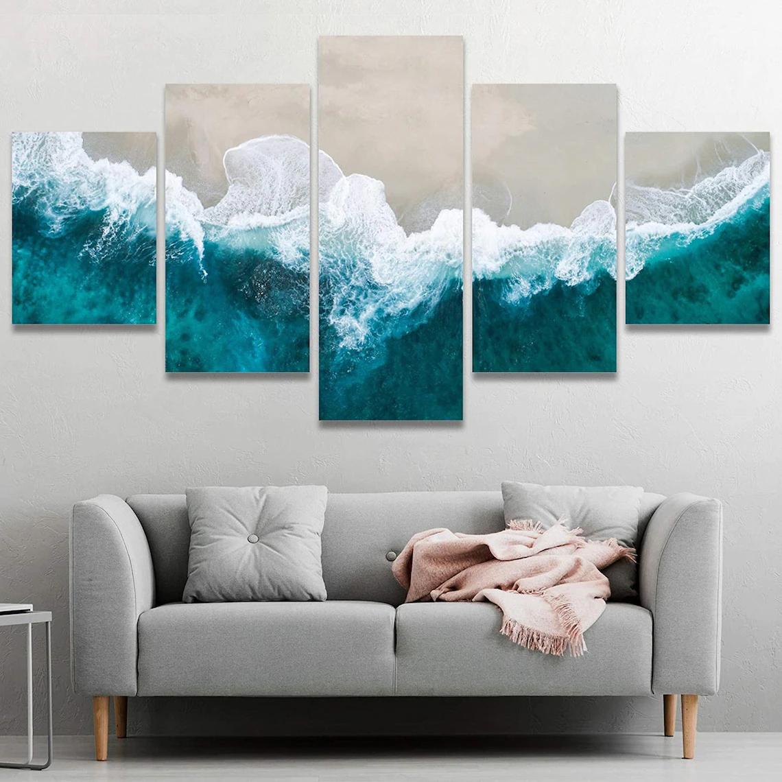 Beach Sunset Wall Art 5 Piece 5