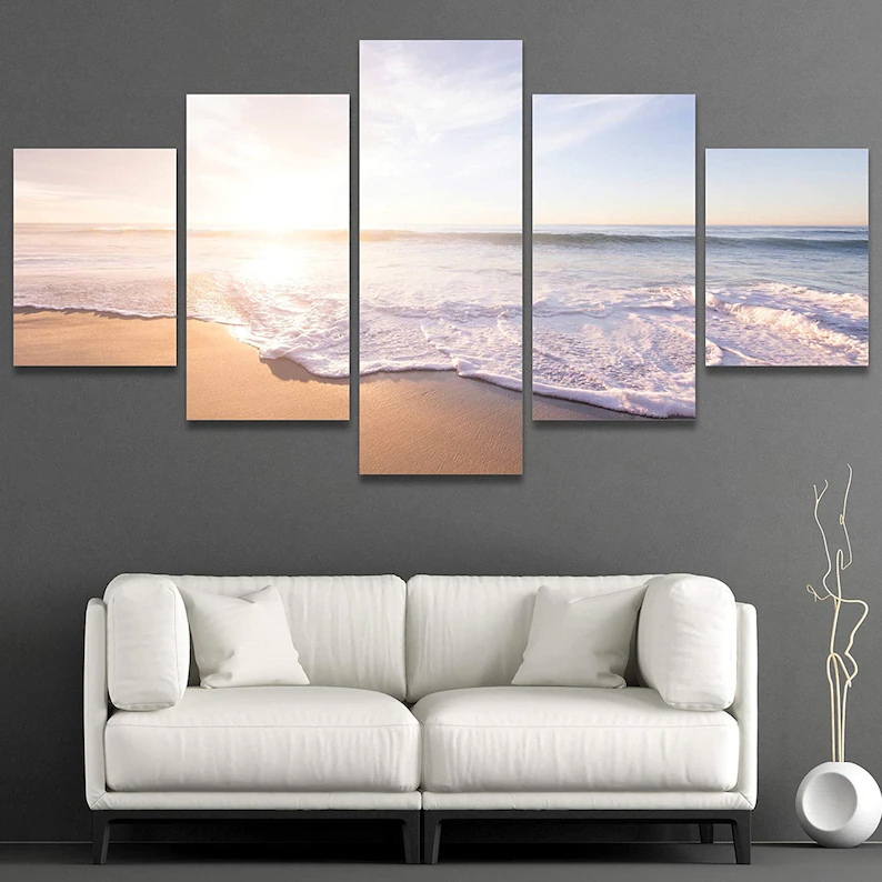 Beach Sunset Wall Art 5 Piece 6