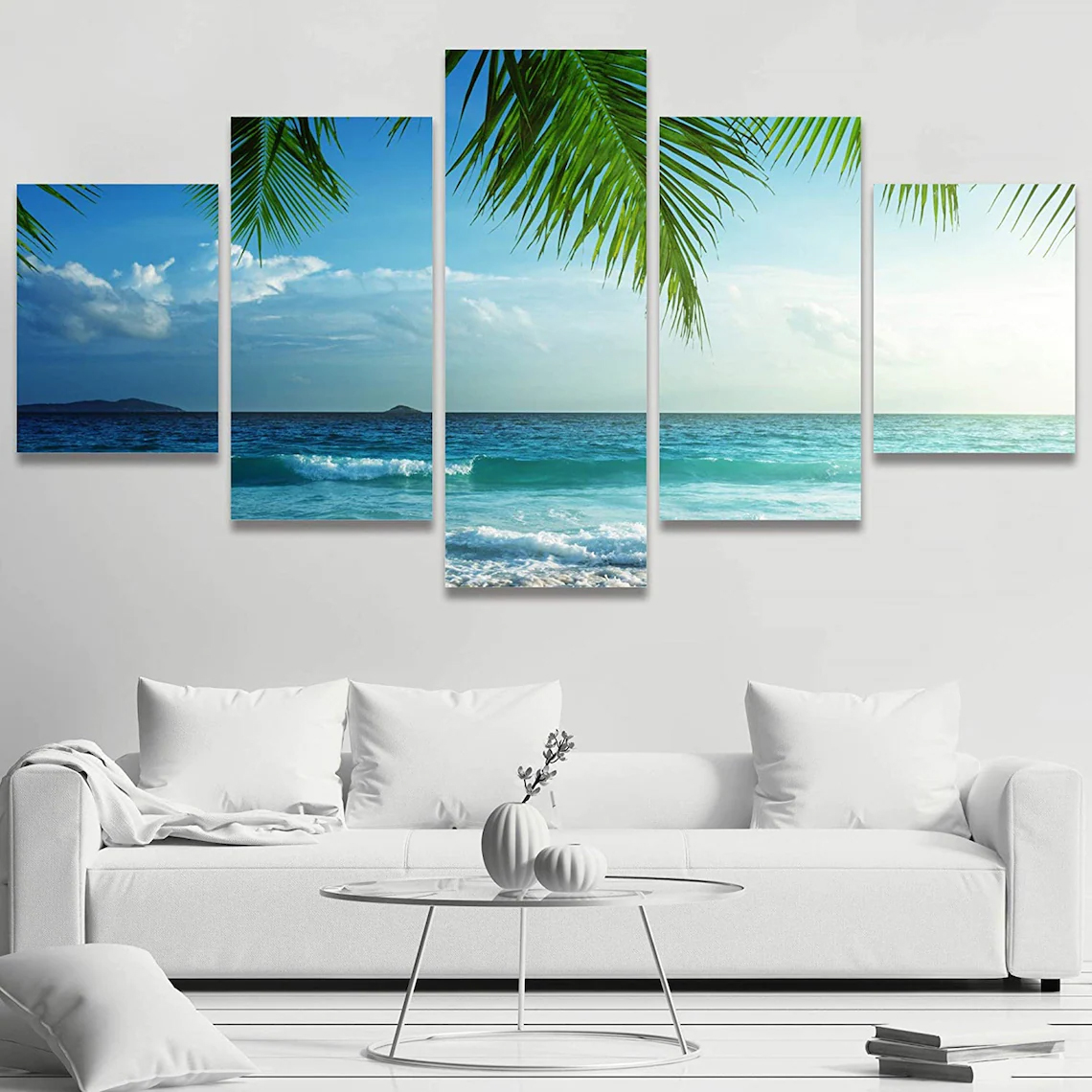 Beach Sunset Wall Art 5 Piece 7