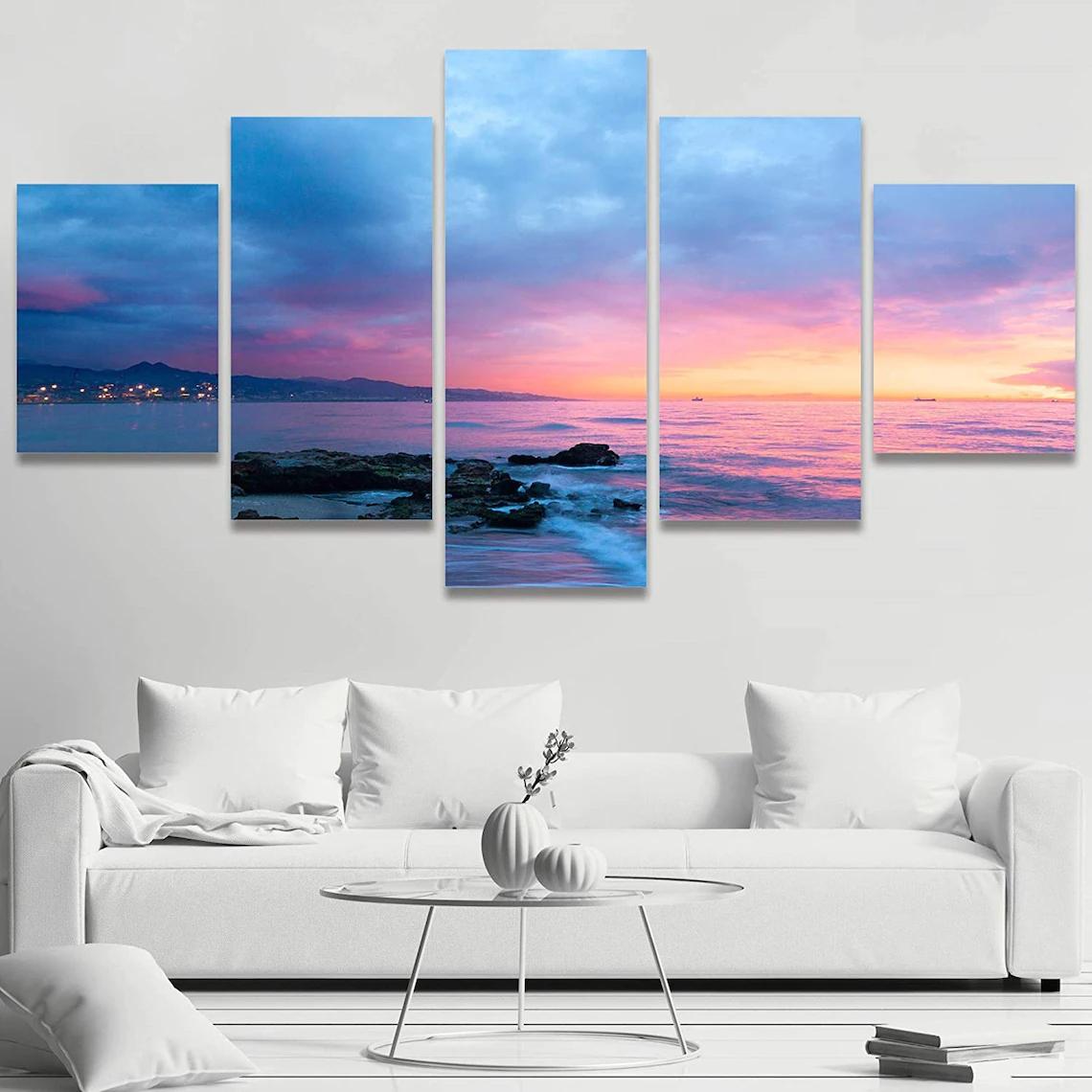 Beach Sunset Wall Art 5 Piece 8