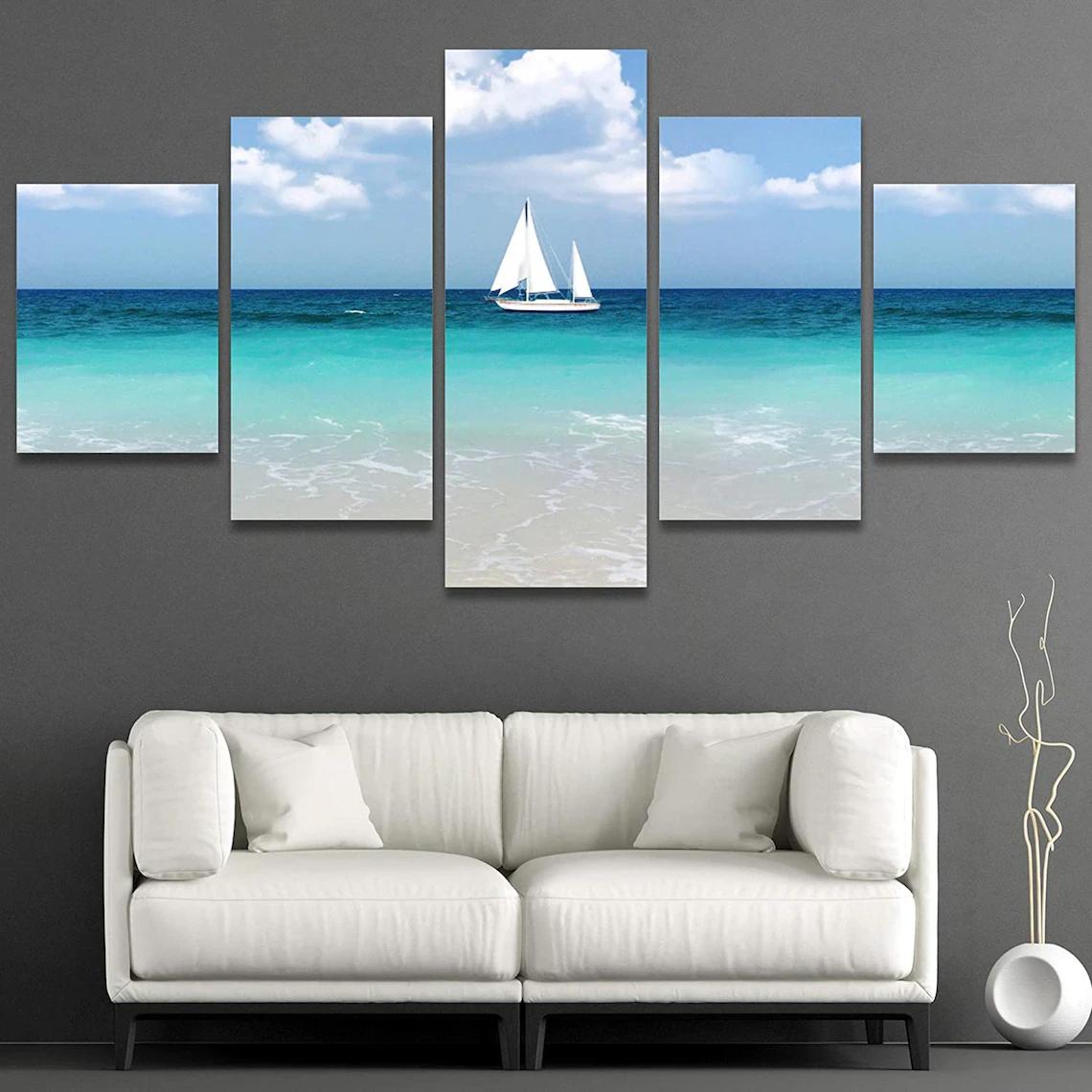Beach Sunset Wall Art 5 Piece 9