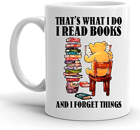 Bear I read books and forest things mug