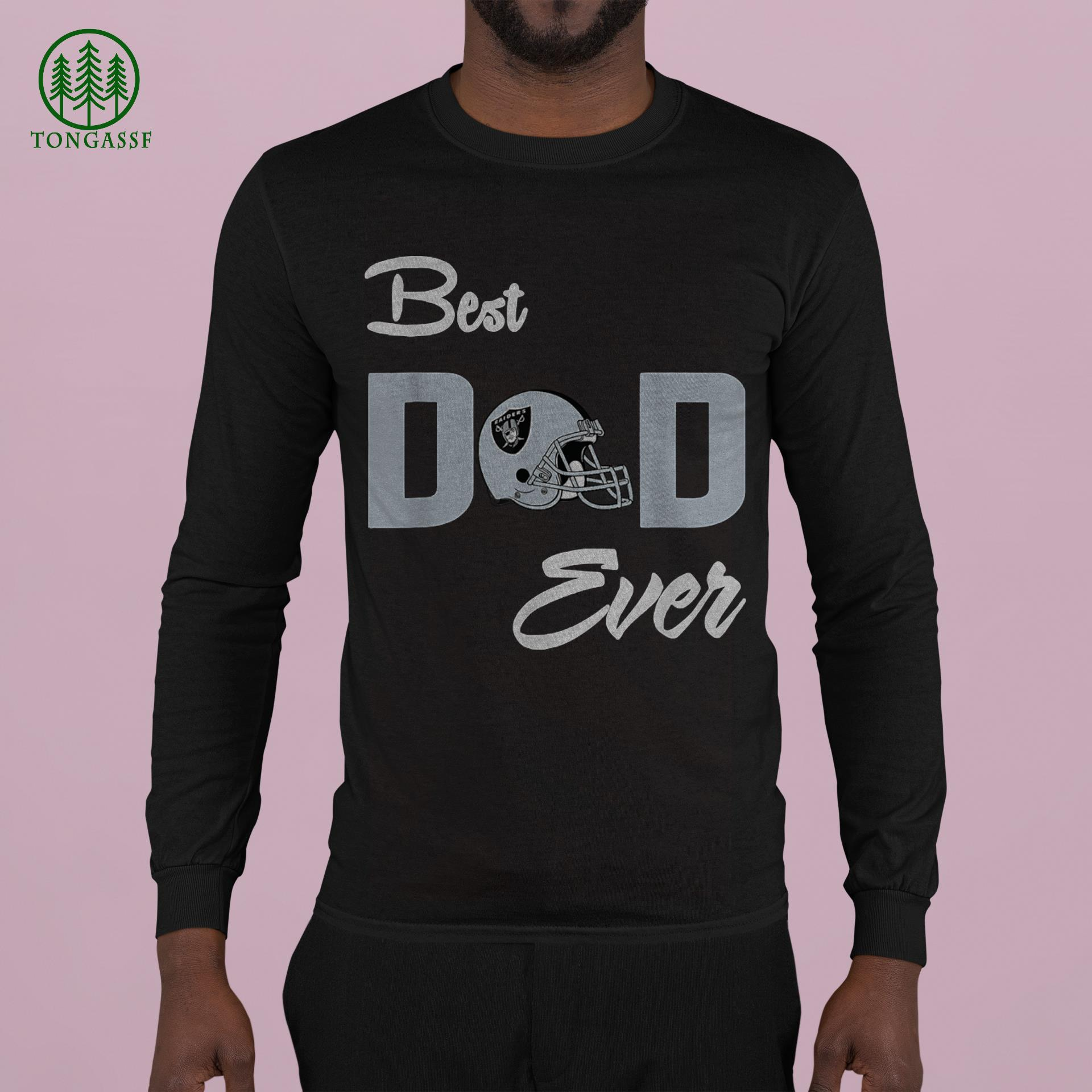 Best Dad Ever NFL Las Vegas Raiders Fathers Day shirt