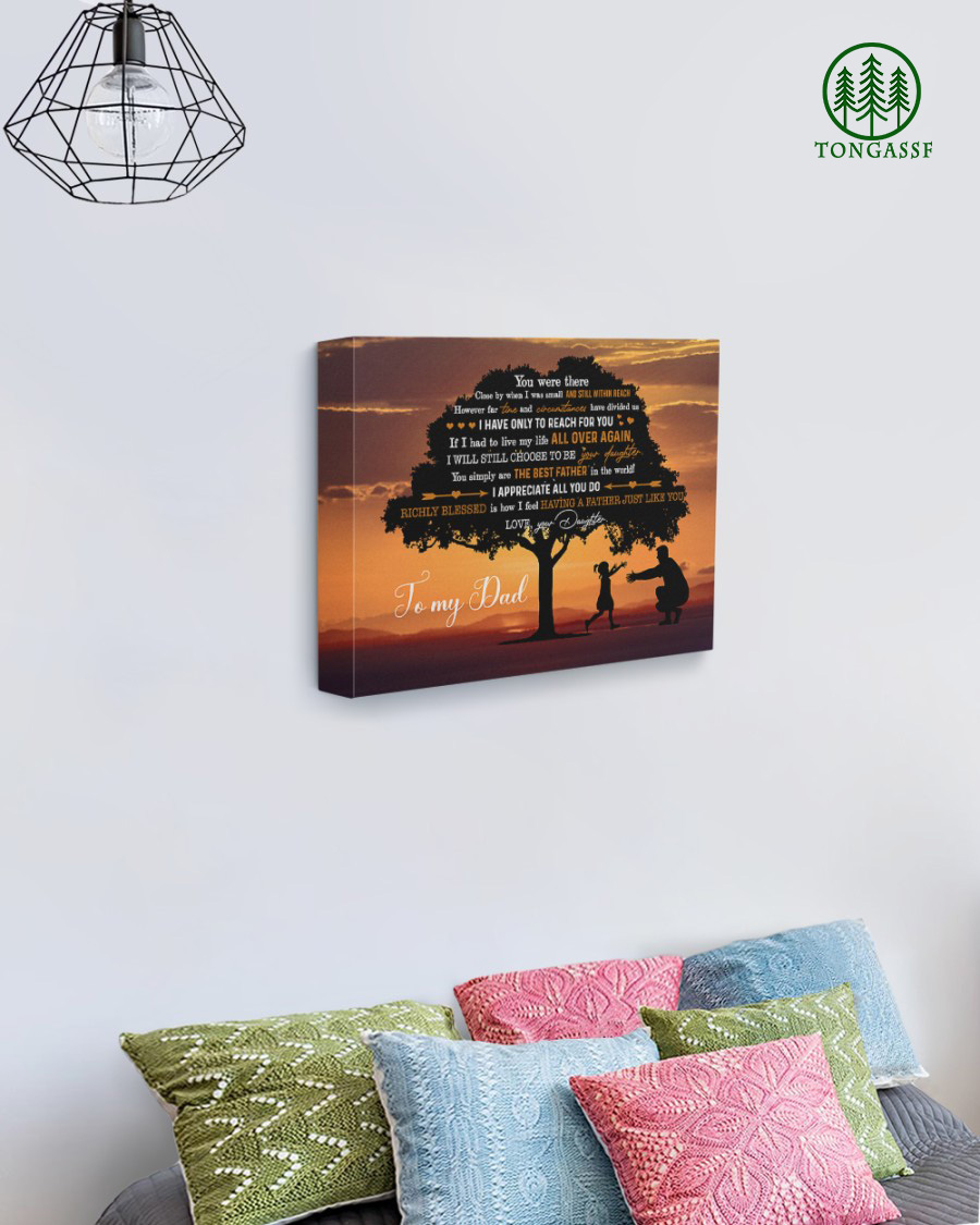 Best father and daughter in twilight canvas