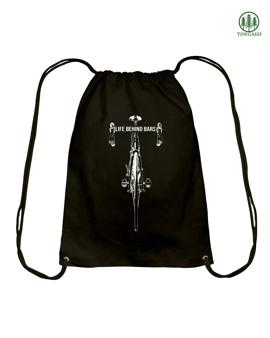 Bicycle racing life behind bar drawstring bag