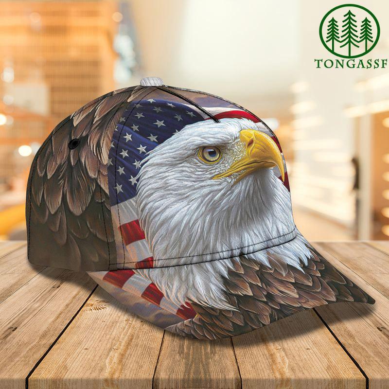 Big Eagle classic US flag 3D cap
