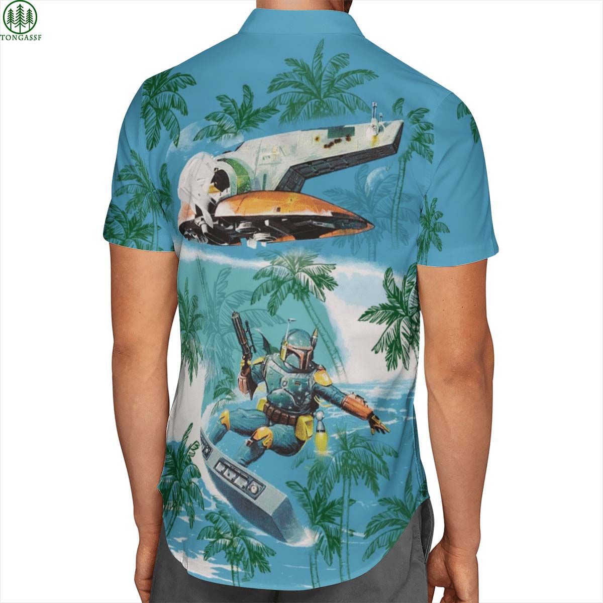 Boba Fett Surf Starwars Hawaiian shirt