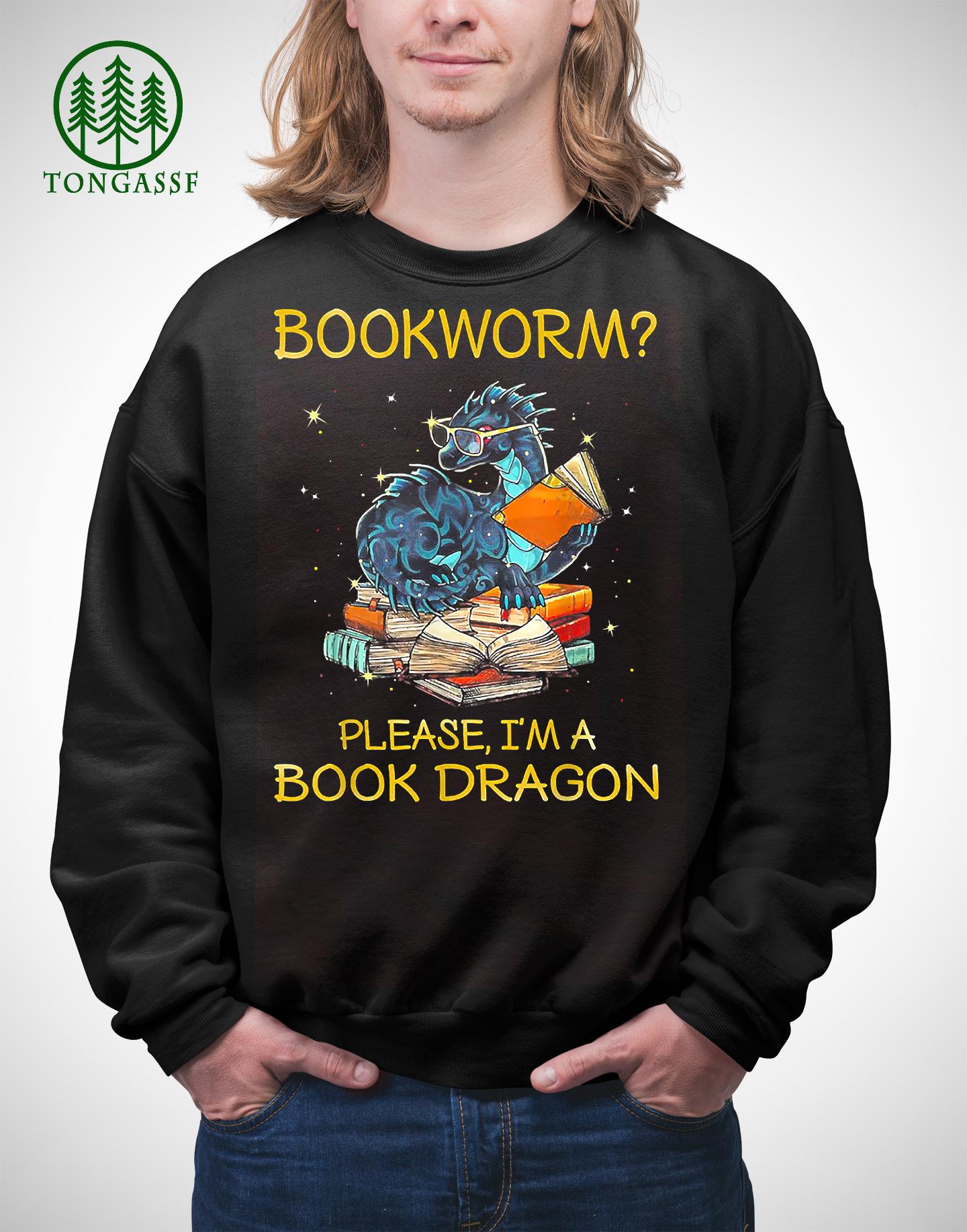 Bookworm Please A Book Dragon T Shirt