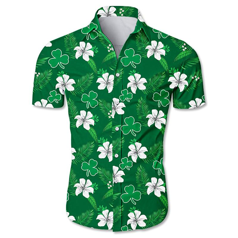 NBA Boston Celtics Floral Hawaiian Shirt Small Flowers